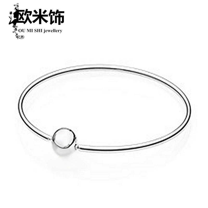S925 silver girls bracelet forehead series snake chain basic chain fashion European and American collocation