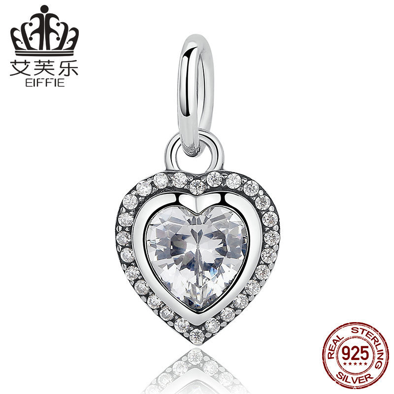 New S925 silver dishni heart-shaped Bracelet + Necklace dual-purpose pendant y pas260