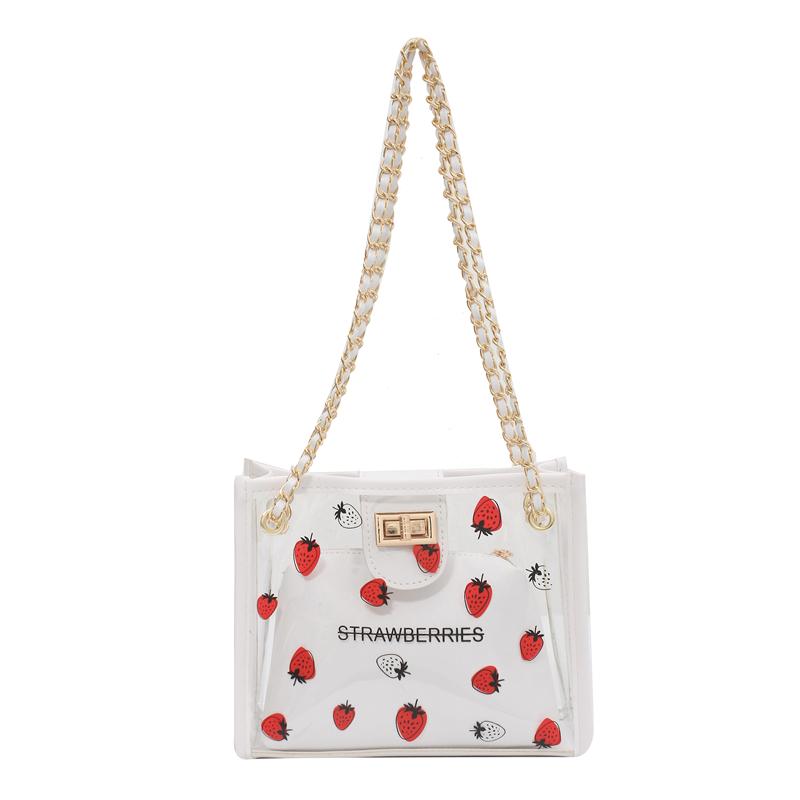 包包女2021新款潮质感高级感小众透明百搭时尚洋气夏季果冻斜挎包