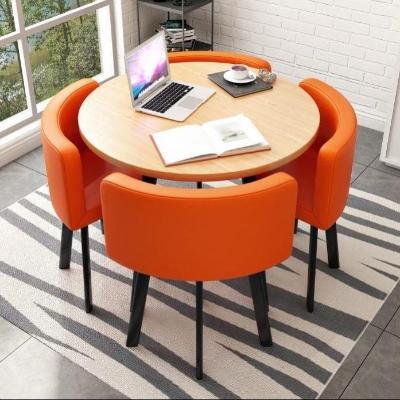 咖啡椅子省空间小餐桌圆桌简约休组合小户型t厅奶茶店接待椅