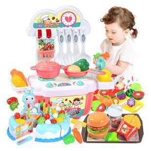 儿童仿真超市购物车玩具女孩切水果手推车过家家蛋糕水果切切乐