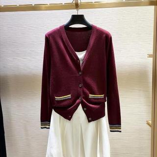 女装专柜正品2020年秋季新款薄款针织开衫羊毛外套春秋
