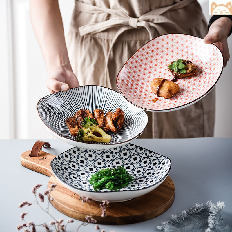 Beautiful plate exquisite beautiful lovely plate ceramic Japanese household good looking ceramic dish creativity