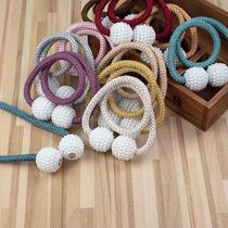 窗帘绑绳一对装免打孔磁铁扣配件挂球扎束系带百搭对吸家用收纳绳