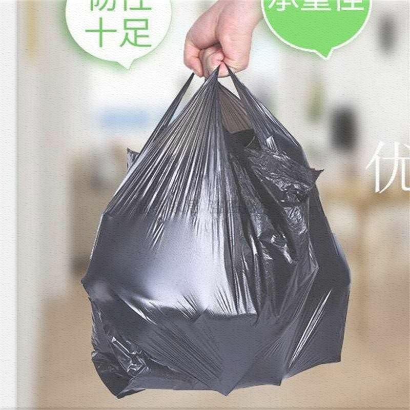 Special approval for large and medium sized black garbage in disposable portable garbage bags for household medium-sized thickened dormitories