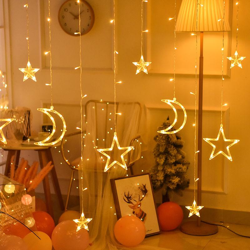 タオバオ仕入れ代行-ibuy99 LED灯 网红星星灯led彩灯串灯满天星小夜灯卧室房间装饰品布置ins少女心