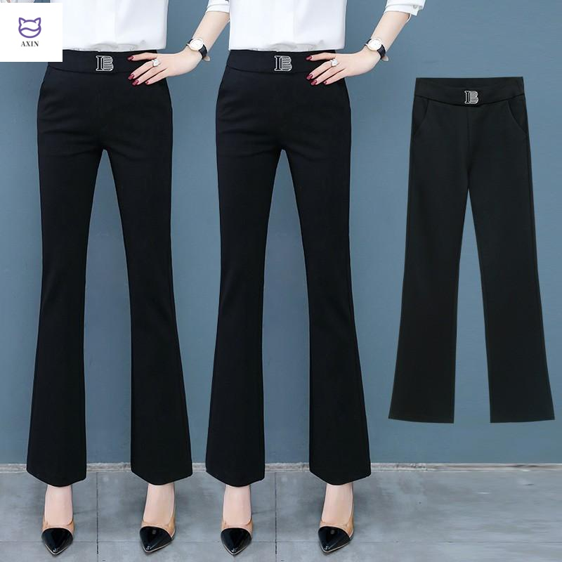Micro slacks womens summer thin 2020 new spring and summer all-around trousers womens trousers show thin straight tube suit flare pants