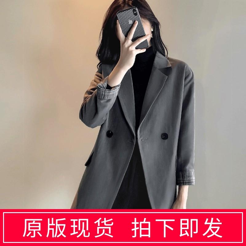 Blazer Jacket Womens summer thin style falling temperament Korean version British style leisure design sense net red suit