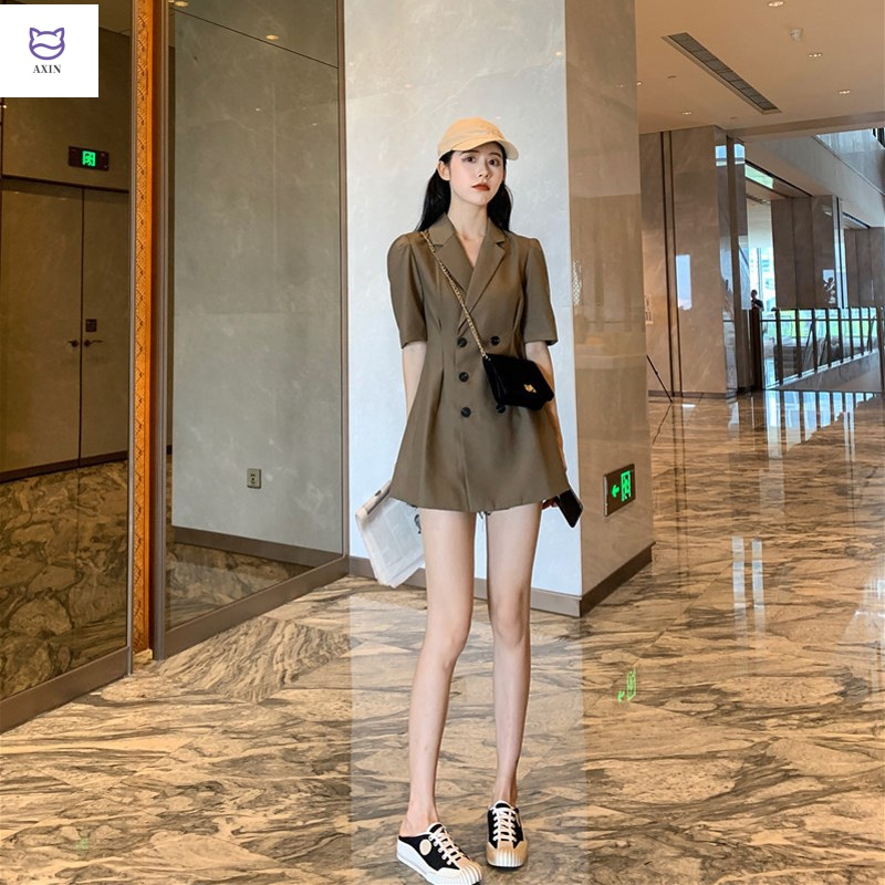 Womens dress: Spring 2020, waist down, thin temperament, French retro style, Hong Kong style, V-neck shirt, suit and dress