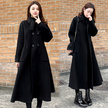 Fat plus plus size women's fat mm200jin winter show thin long woolen coat loose air woolen coat