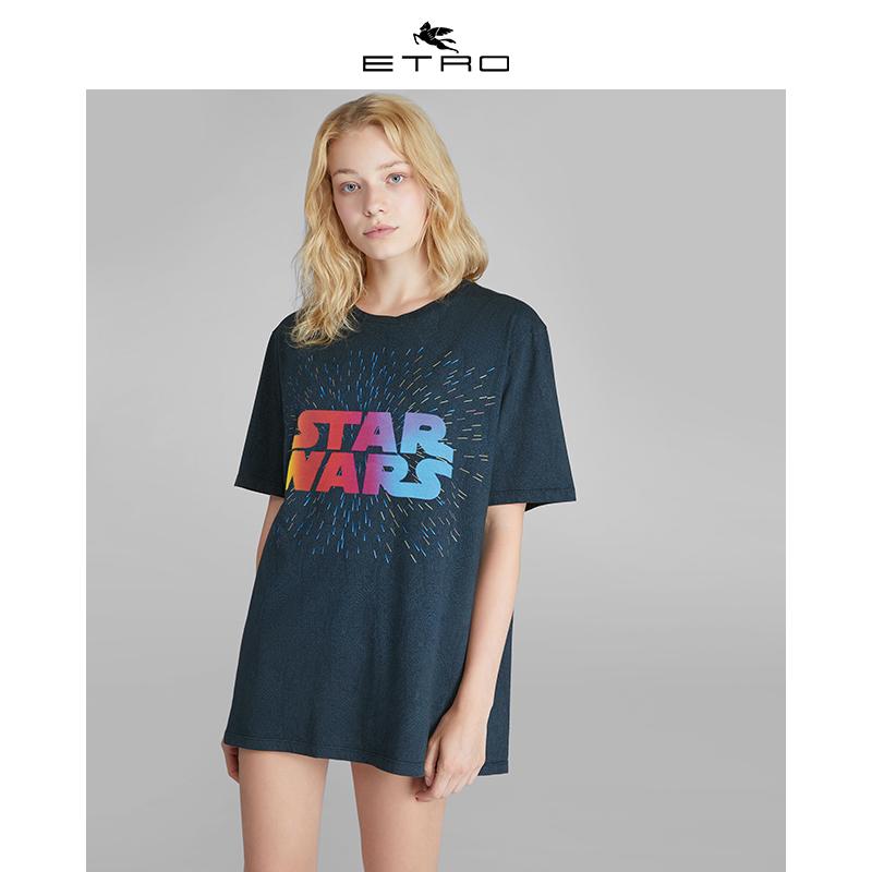 ETRO X 星球大战 男士女士 中性基本款情侣印花T恤