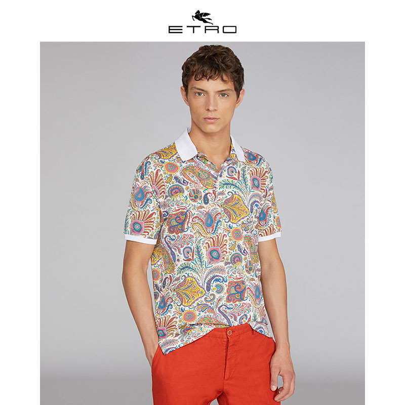 [Hui] Etro echo / new spring 2020 / mens Paisley Paisley polo shirt