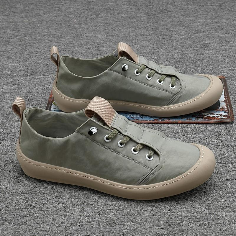 Mens shoes fashion shoes 2020 ice silk cloth shoes light and thin lazy shoes mens driving one foot mens canvas casual shoes