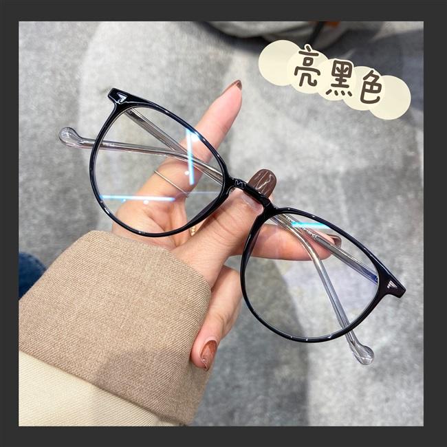ins 韩系超轻tr透明茶色眼镜框女可配镜片近视素颜大脸显瘦不压鼻