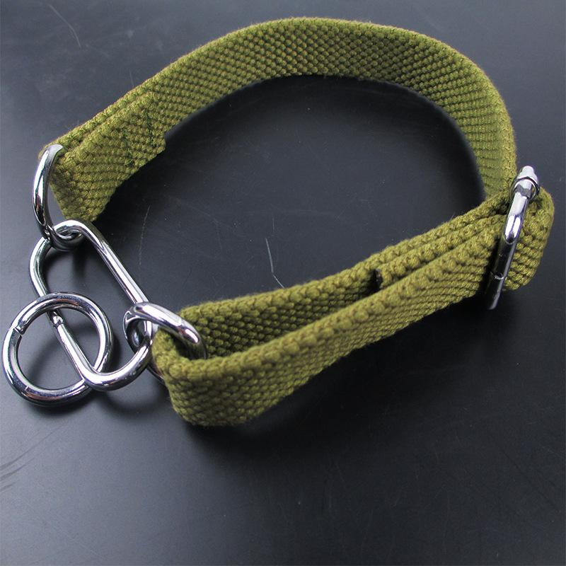 A tight Greyhound collar, whimper dog, Greyhound, Beagle dog, fine dog collar, adjustable three ring dog cotton collar