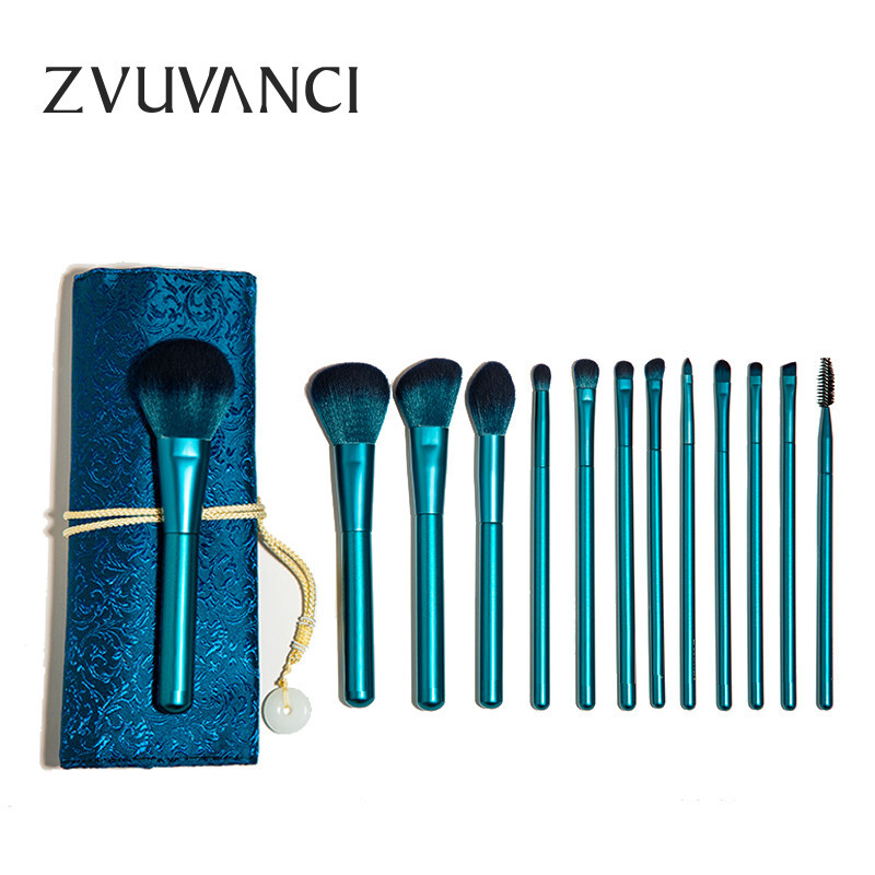 Bamboo fan Xi makeup brush set make up tool soft hair beauty brush full set beginners brush women set brush lip brush