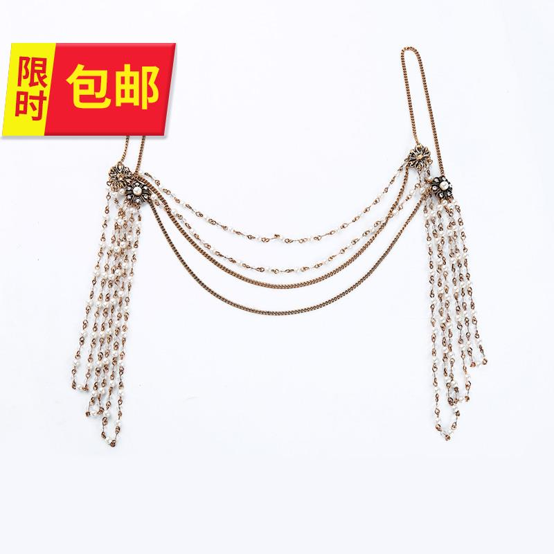 2020 new shoulder chain womens European and American fashion accessories personalized creativity multi-r-layer long body clothing chain