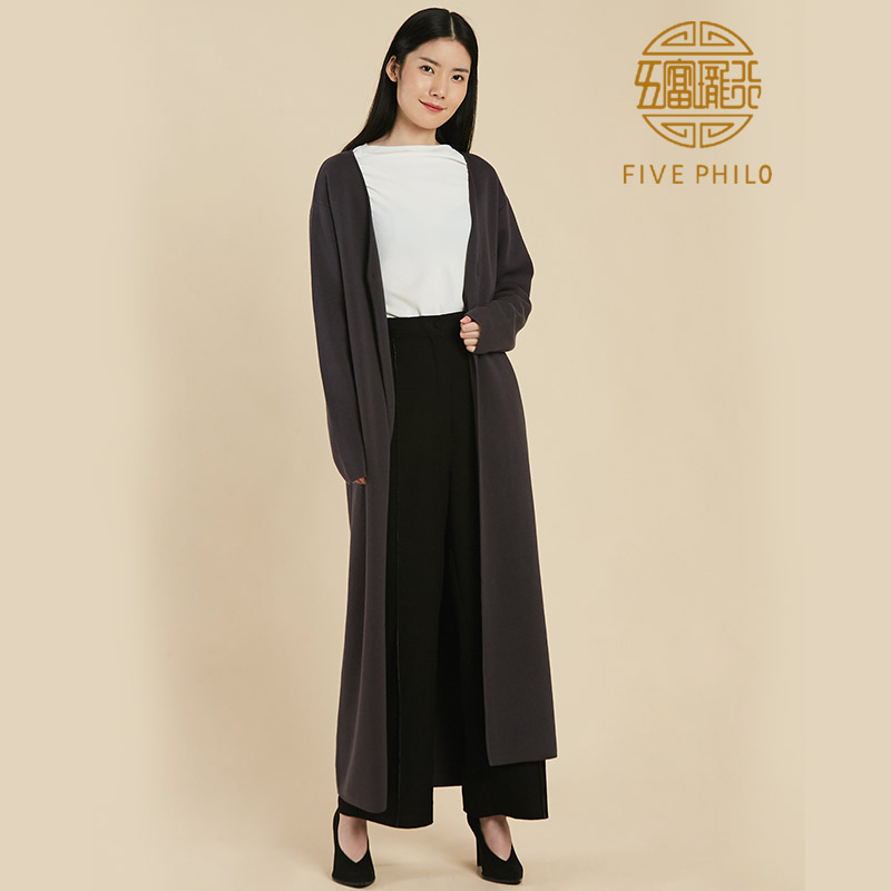 Five Philo fall / winter 2019 new womens knitted cardigan coat long sweater 100% cotton