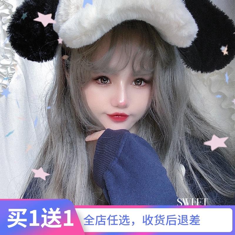 Japanese girls Long Curly Wig Natural full head set Lolita corza