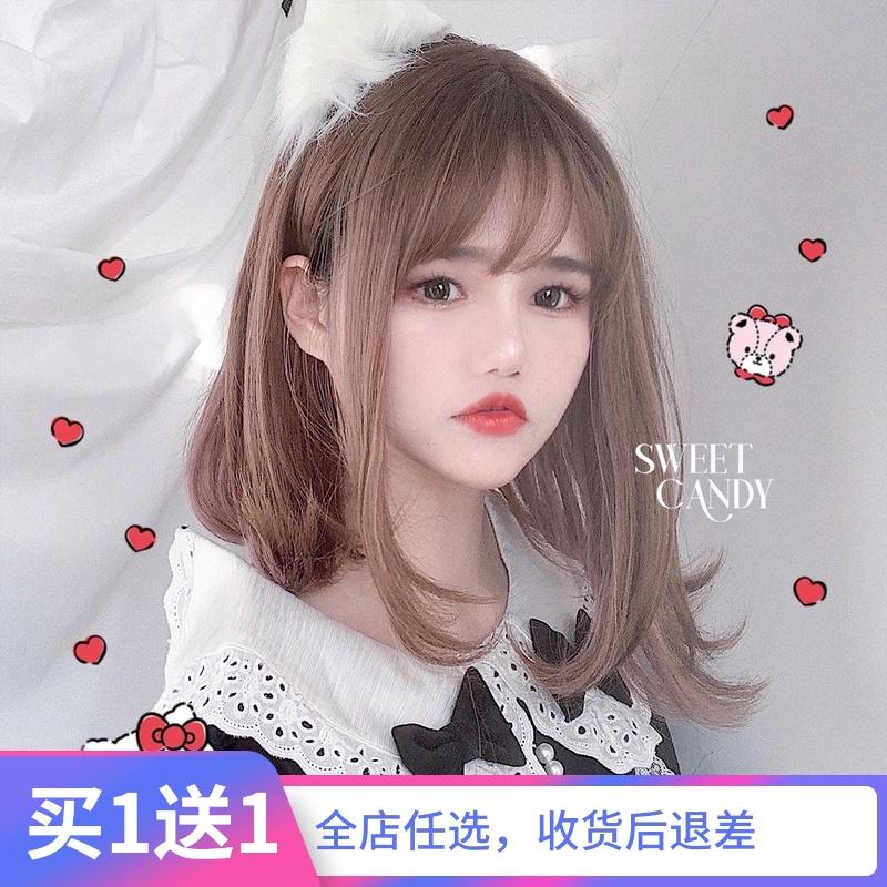 グミの家【芯を挟むグミ】日本系少女かわいいかつらロリータ自然ショートヘア鎖骨ヘア