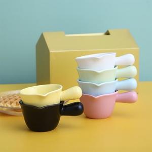 甜品奶碗酱料斗奶罐陶瓷汁小味碟带咖啡手柄牛排盅壶奶杯玻璃迷你