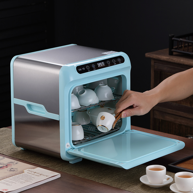呈然 茶杯收纳消毒烘干奶瓶消毒柜家用小型办公室茶具水杯消毒机淘宝优惠券