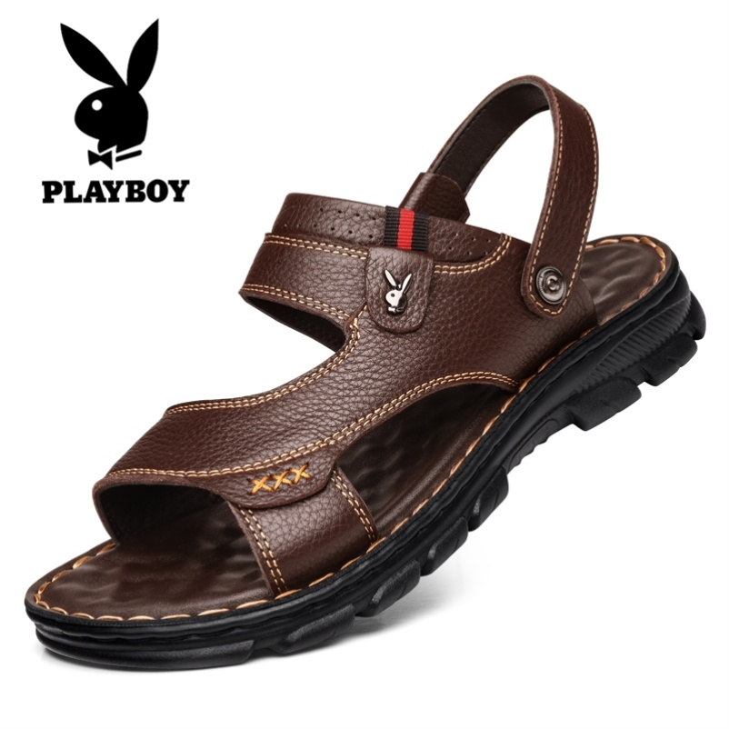 Playboy mens shoes 2020 summer new sandals mens trend Korean thick bottom sports casual breathable beach shoes