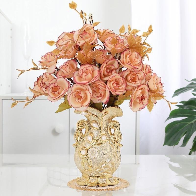 中國代購|中國批發-ibuy99|装饰品|【送瓶垫】陶瓷花瓶插花客厅摆件餐桌花瓶装饰品