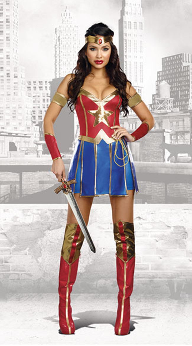Halloween Costume European and American Superman adult uniform role playing flying Knight costume warrior hero Costume