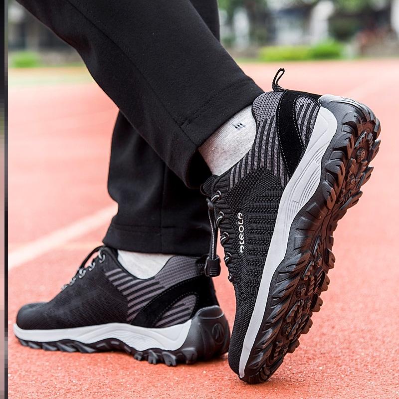 。足间道老人鞋平底防臭加宽黑色小脚粉色运动宽松广场家用妈妈防
