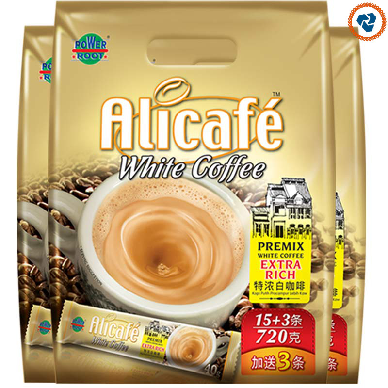 Instant white imported Malaysian coffee powder 720g * 3 Pack