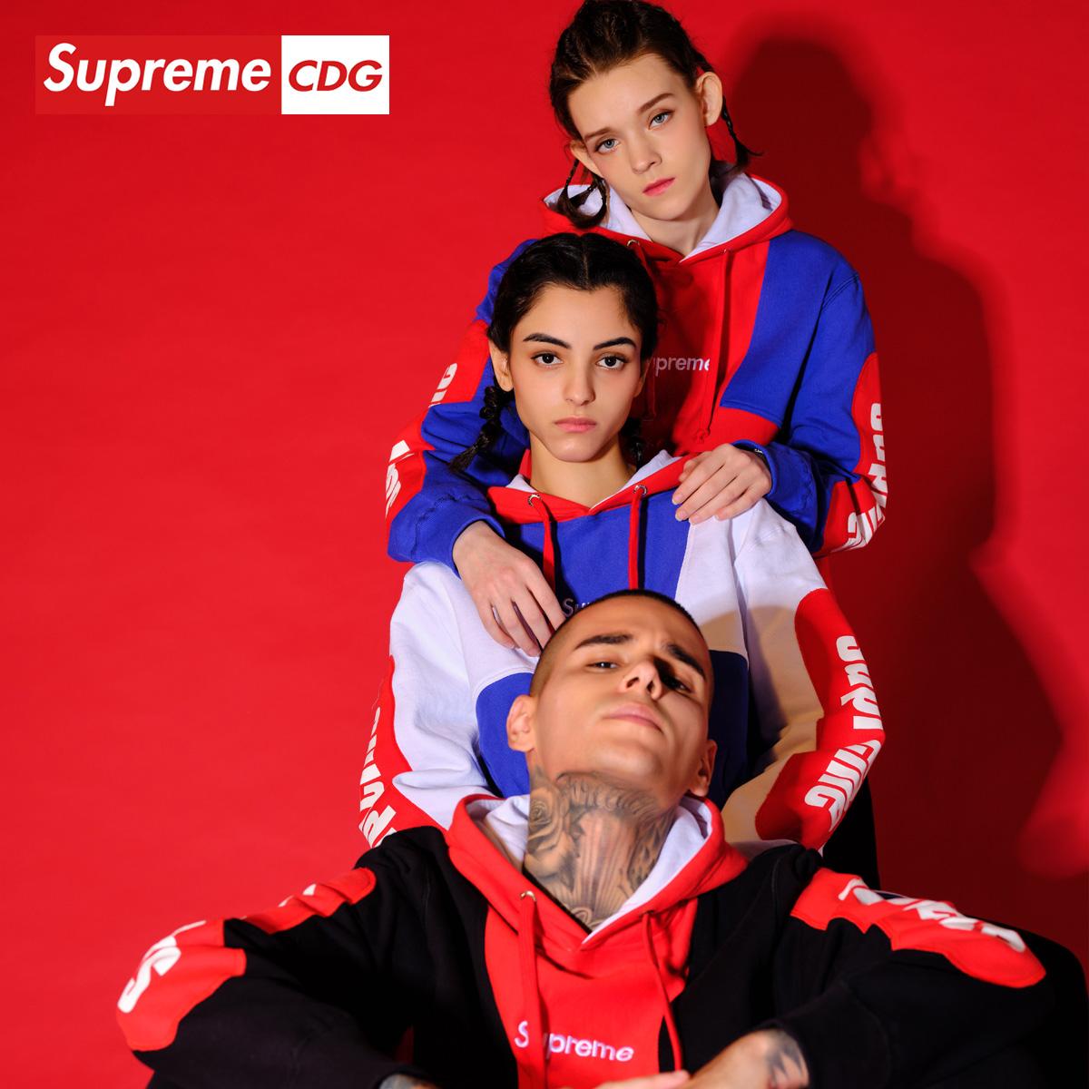 Supreme CDG 2020年春季新款印花字母情侣中性连帽卫衣男女款上衣