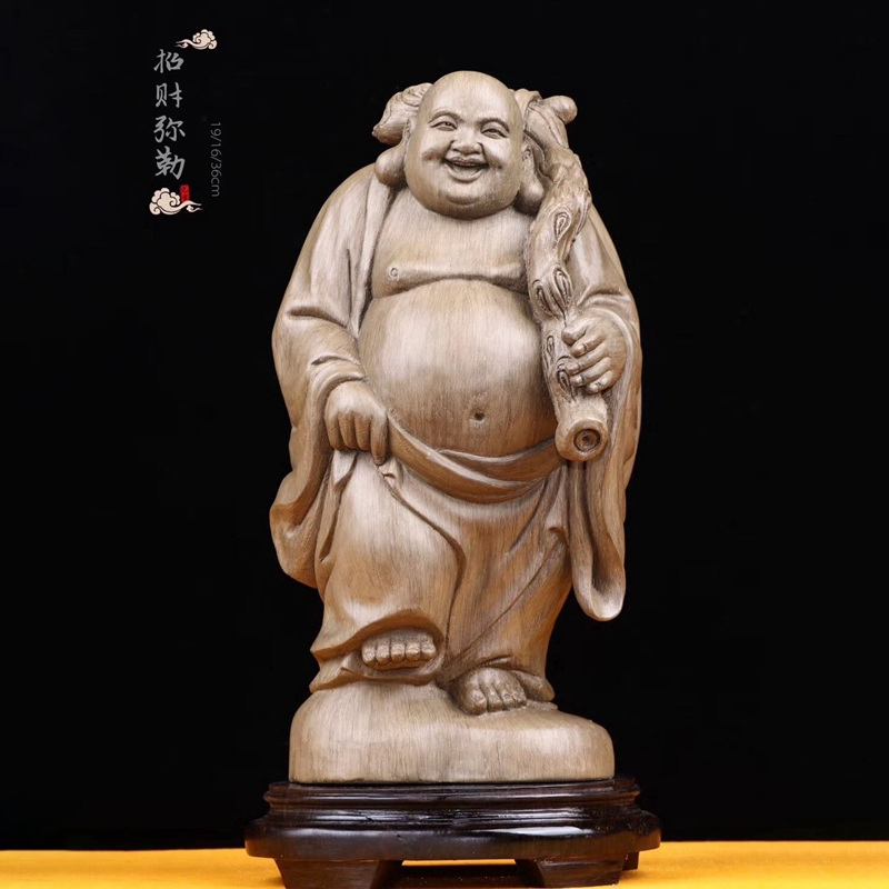 Eaglewood collection level [manual Maitreya] manual figure statues, home living room, Buddha handicrafts and ornaments