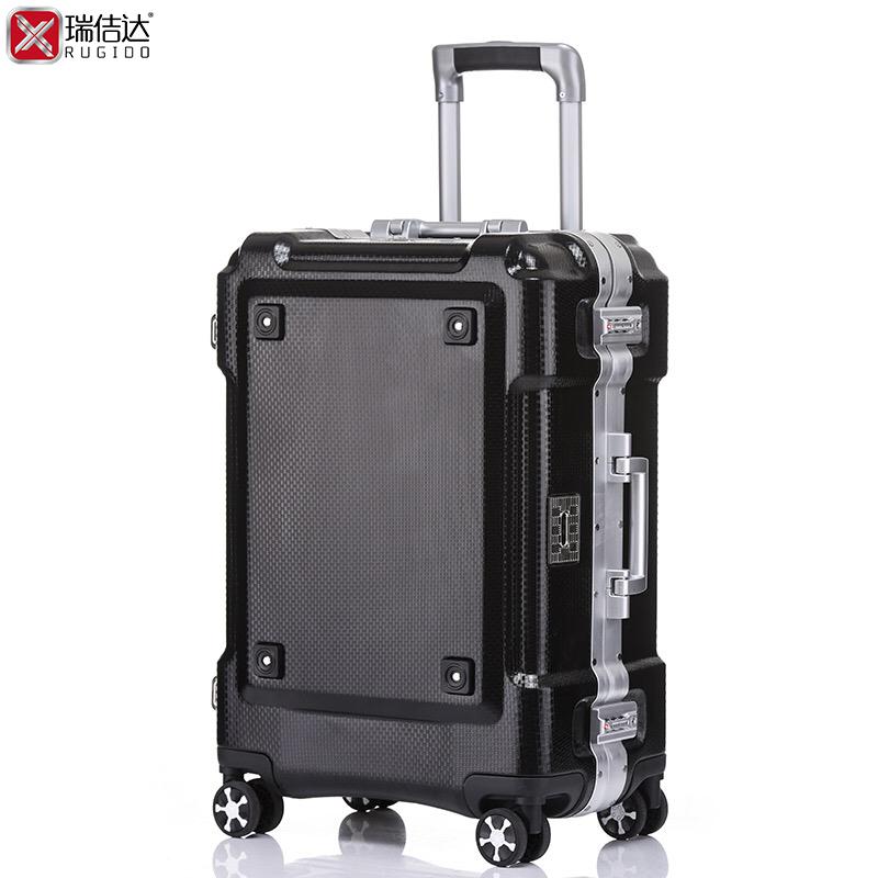 高端铝框海关锁拉杆箱20登机24行李旅行箱万向轮男28寸密码旅游箱