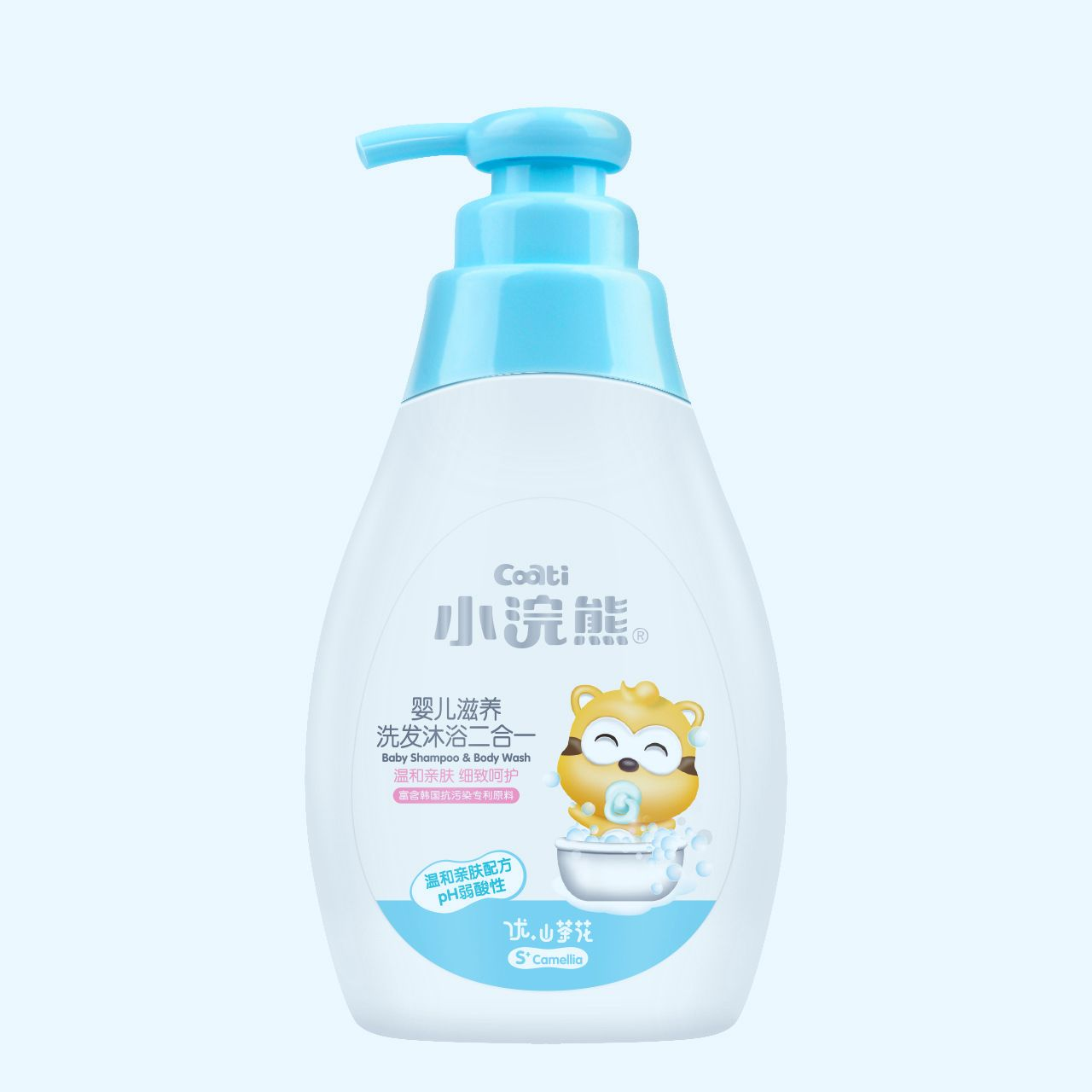 Baby raccoon childrens shampoo and shower lotion baby baby shampoo and bath two in one 300ml baby care products