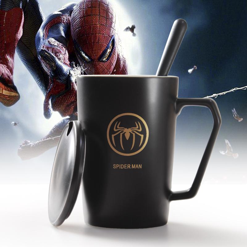 创意联盟杯个性杯子陶瓷马克杯带盖喝水杯家用咖啡杯男女茶杯