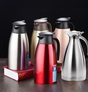 红色粉色商用茶壶手压式手提304内胆车载暖水壶家用保温壶手提式