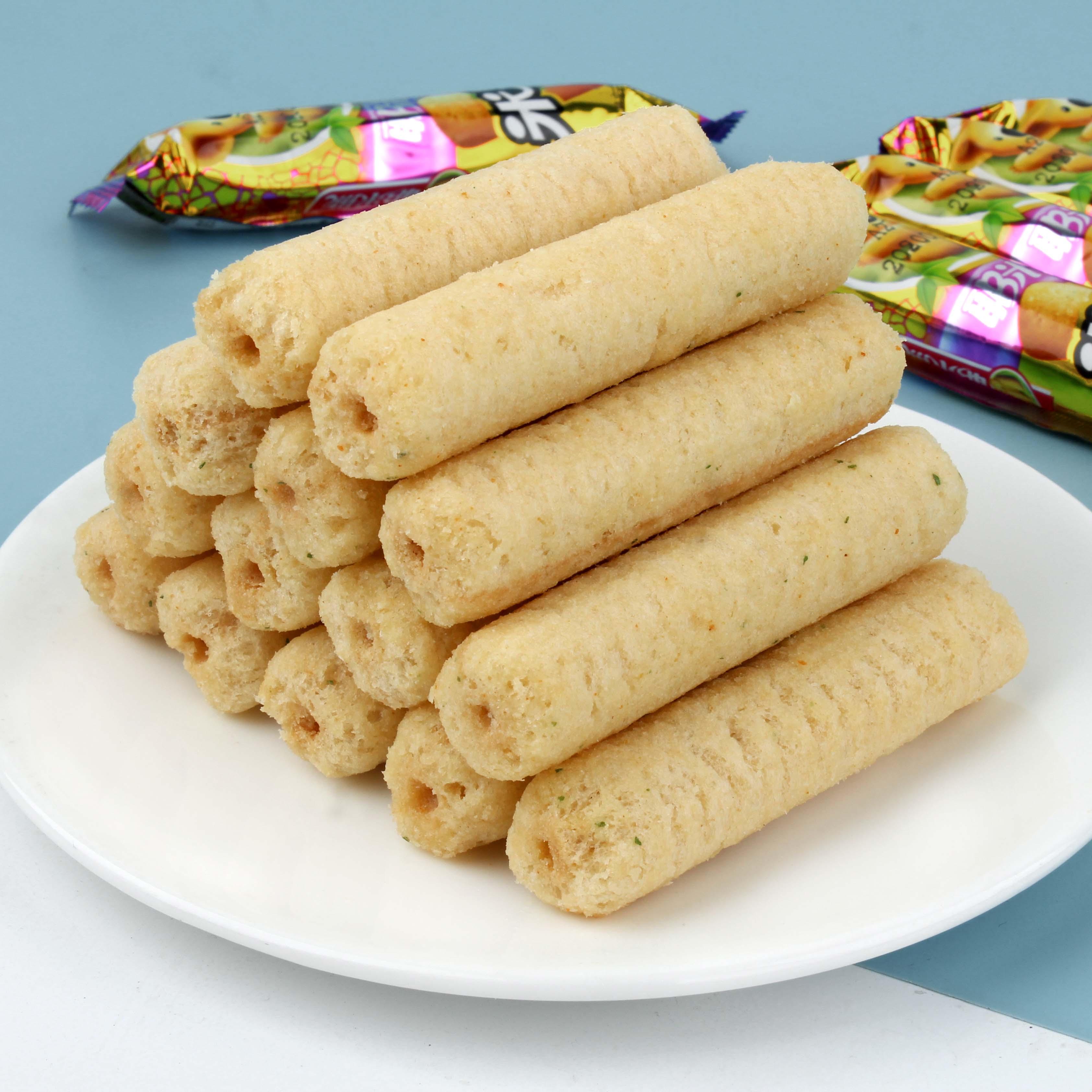 耶米熊米果派米果卷能量棒夹心爆米花米通办公室休闲零食500g