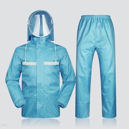 2020 new raincoat rain pants set mens waterproof body double layer thickened breathable thin summer female split