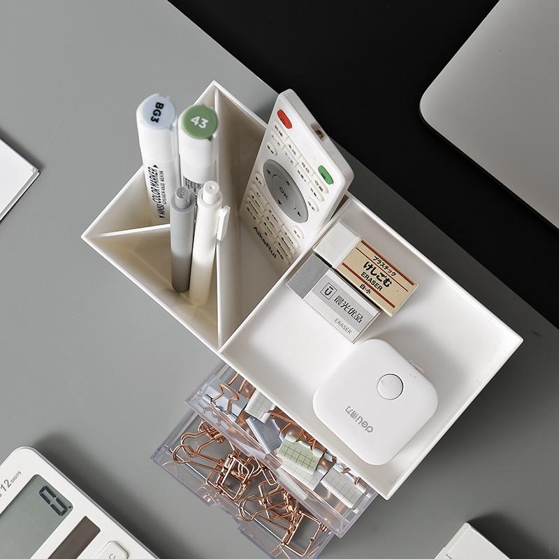 塑料盒桌面约整理办公室。上收抽屉式盒学生杂物笔筒化妆品文具纳