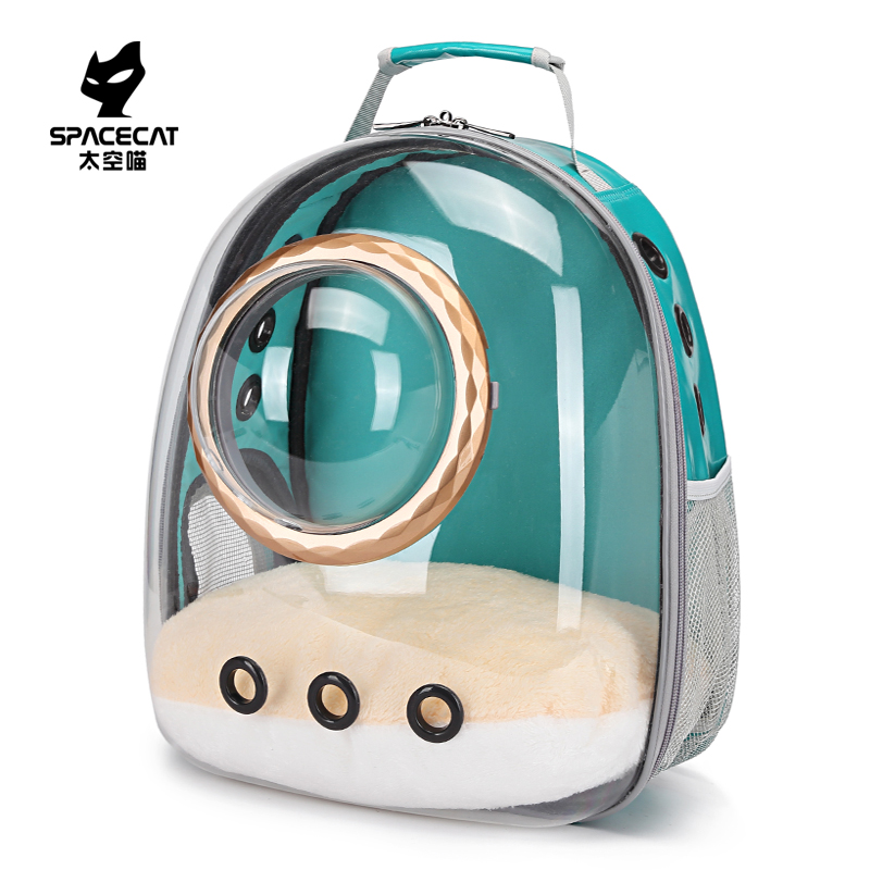 Space meow transparent cat bag going out portable space capsule Dog Backpack cat schoolbag cat bag carrying pet backpack