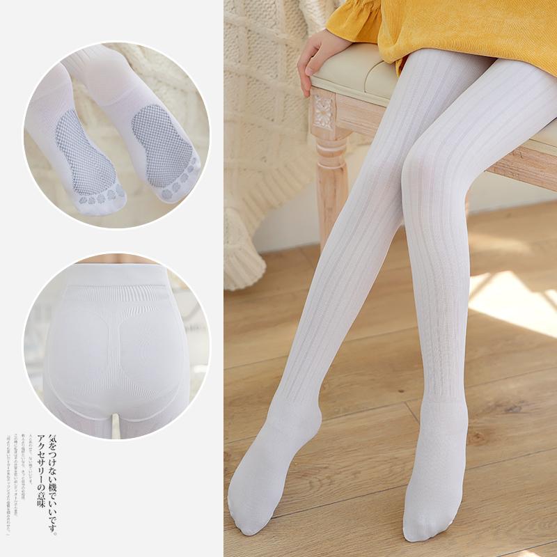 女童连裤袜夏季薄款中大童纯棉连体袜宝宝长筒袜子洋气儿童打底袜