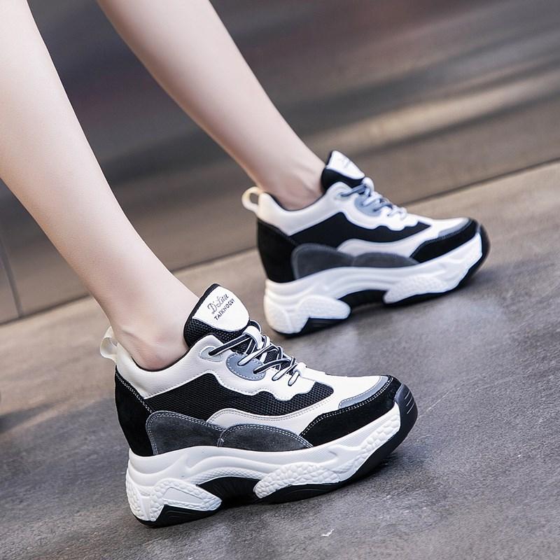 老爹鞋女ins潮2019秋季新款加绒冬季女鞋秋鞋内增高运动休闲鞋子