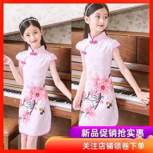 5小女孩子旗袍6公主裙子8女童9礼服7连衣裙夏装 10夏天12岁 4儿童装