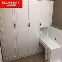 卧室整体家装实木柜现代简约组合衣柜衣帽间榻榻米床全屋定制家具