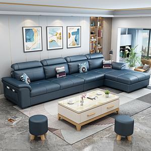 布艺沙发简约现代客厅大乳胶科技布