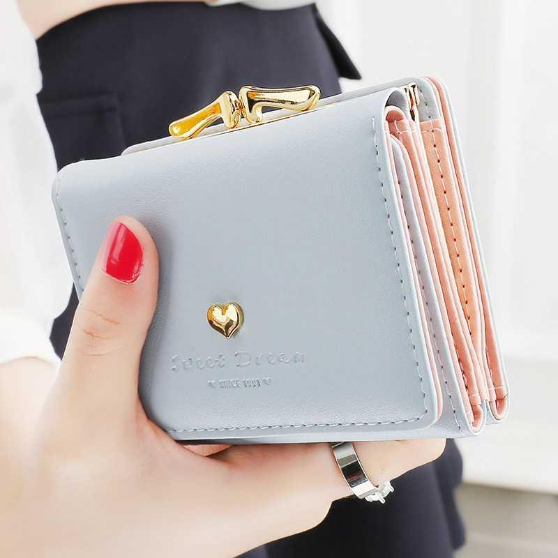 Ms. Tyrions wallet womens short Japanese and Korean students small wallet Mini Wallet Wallet