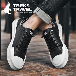 德国飞鹰男鞋子春季2020新款潮鞋潮流皮鞋百搭小白板鞋男士休闲鞋