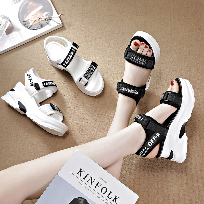 Slope heel sandals womens ins fashion trend in summer 2020