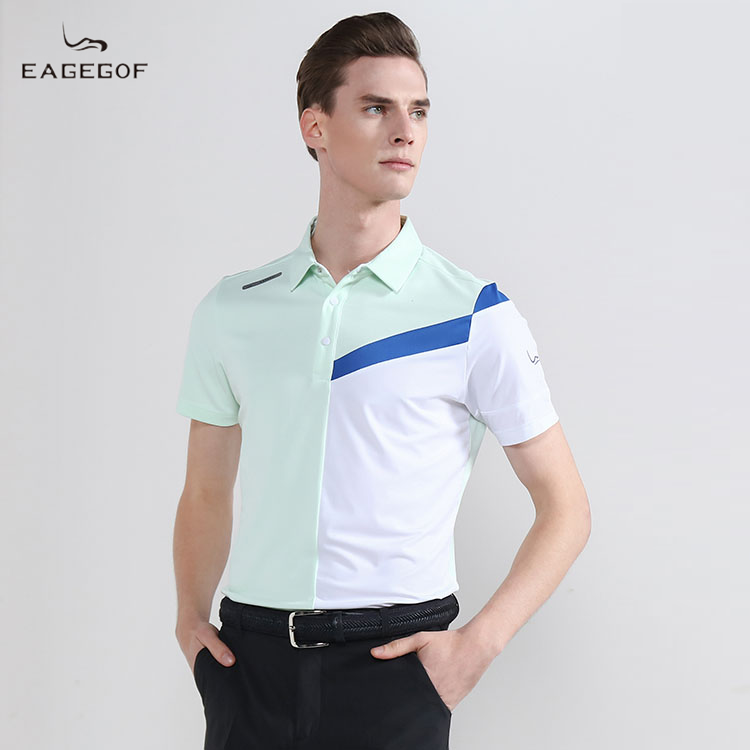 Eagegof new golf short sleeve T-shirt summer outdoor sports casual polo shirt moisture absorption and sweat wicking